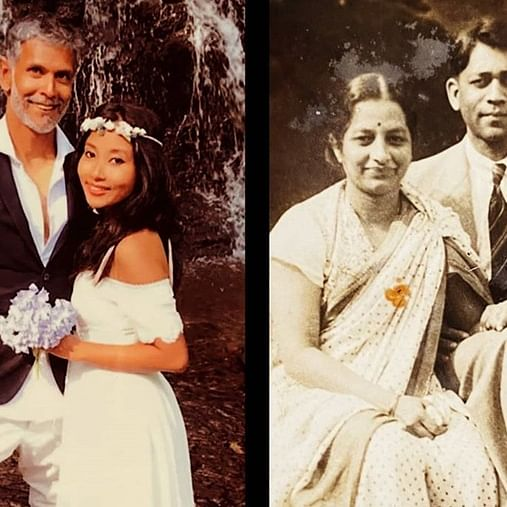 Milind Soman juxtaposes wedding picture with his grandparents' 80 years apart