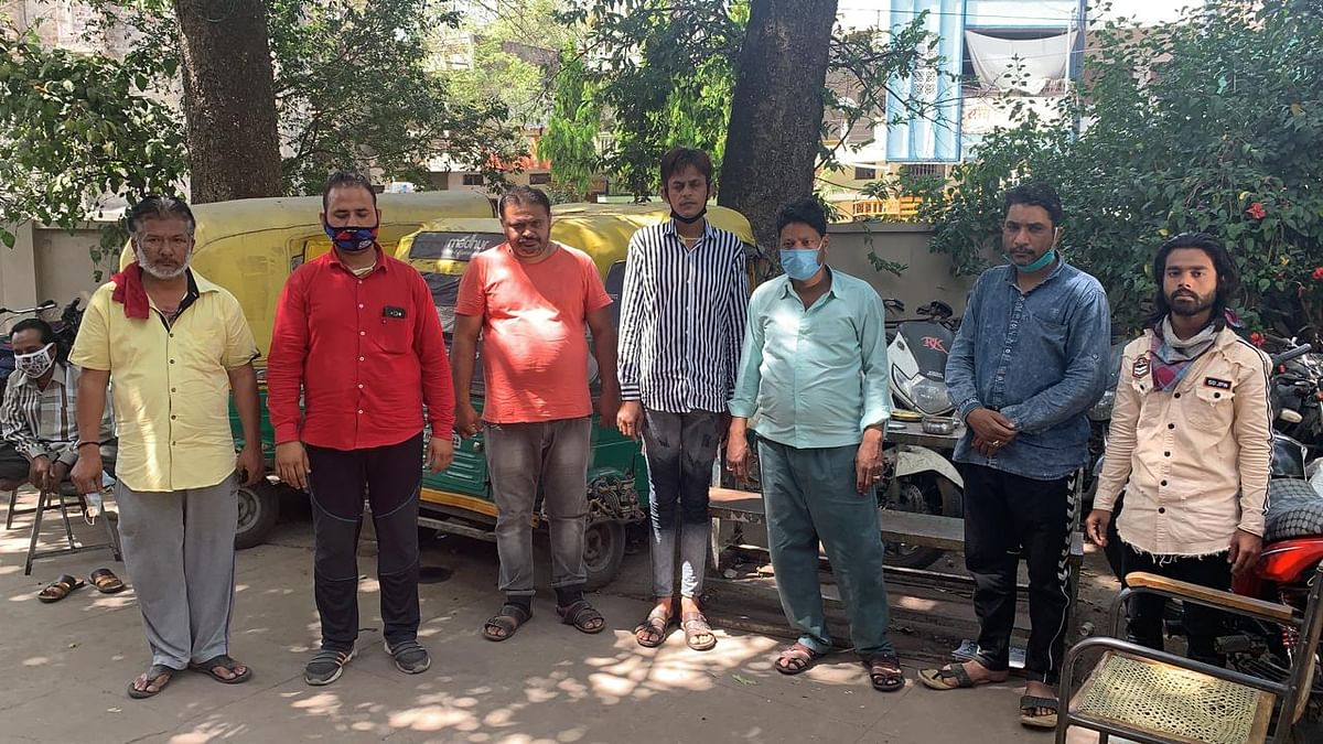 The seven accused after the arrest