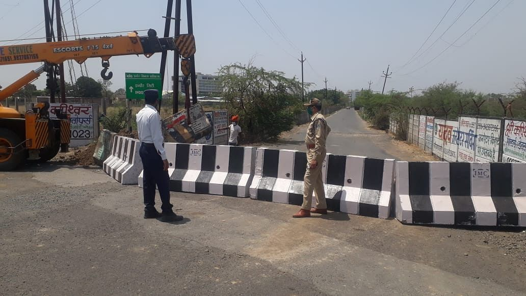 Coronavirus in Indore: Cops sealed roads those lead to city