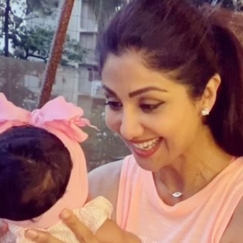 Shilpa Shetty shares adorable video with daughter Samisha as she turns 2 months old