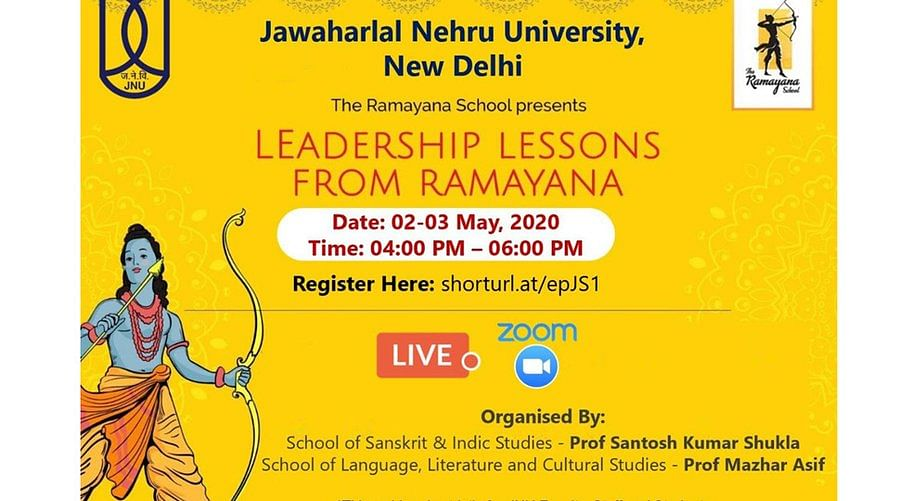 JNU to organize webinar on 'leadership lessons from Ramayana' for students and faculty