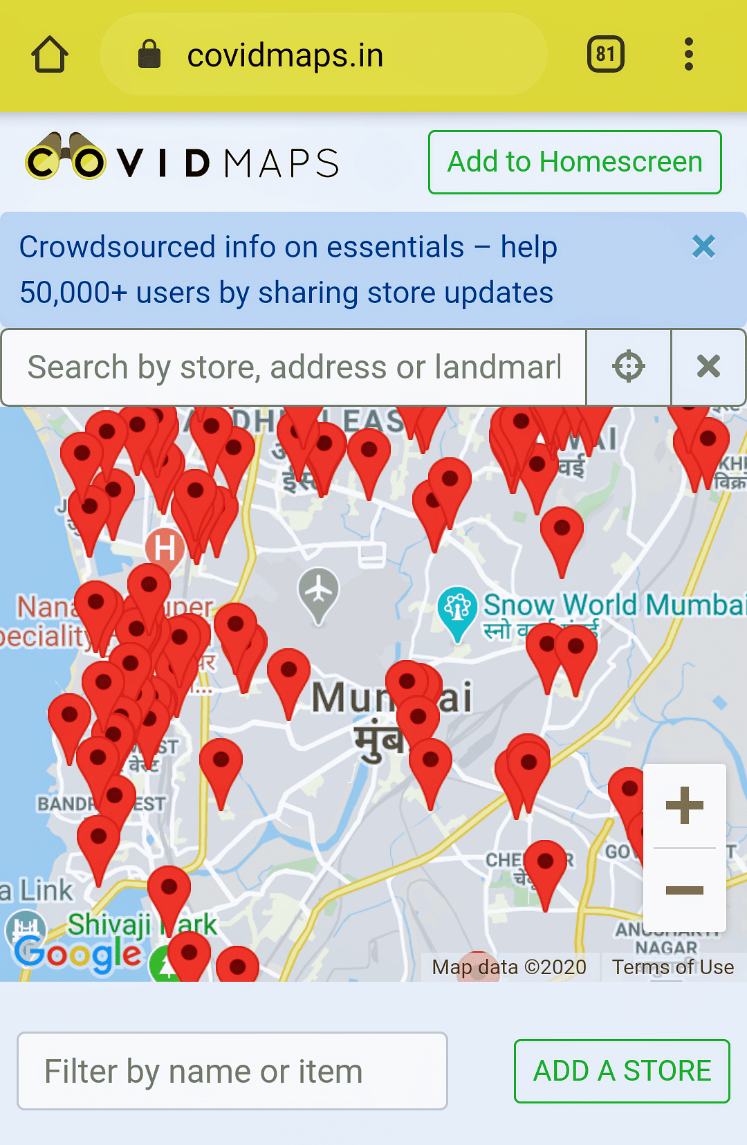 Struggling to buy groceries in Mumbai, Chennai, Bangalore? Covidmaps.in to help locate shops nearby