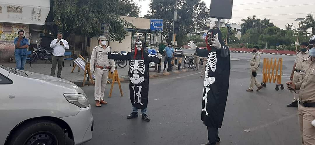 Watch: Indore Police's ghoulish tactics to keep people indoor