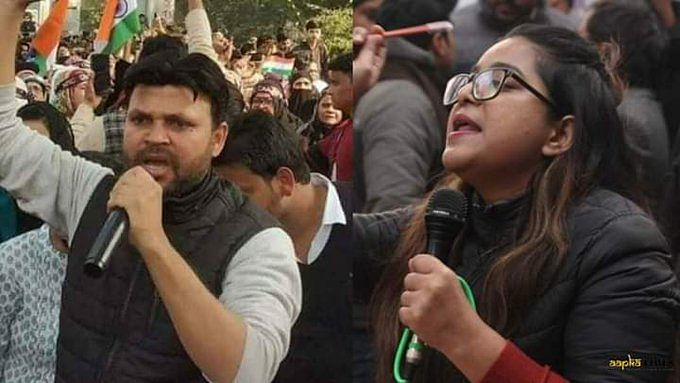 Haider and Zargar (R), arrested for allegedly hatching a conspiracy to incite the communal riots in February, are in judicial custody.