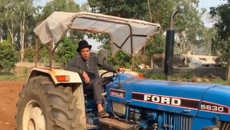 Watch: Dharmendra shares a motivational video of himself ploughing a farm, amid lockdown