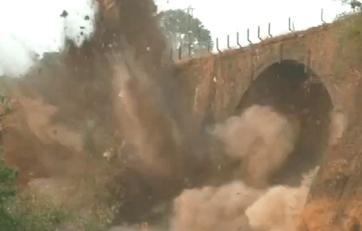 Watch: 189-year-old Amrutanjan Bridge on Pune-Mumbai Expressway demolished