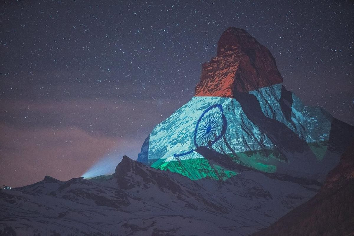 Switzerland projects Indian flag on Mount Matterhorn to show solidarity in battle against coronavirus