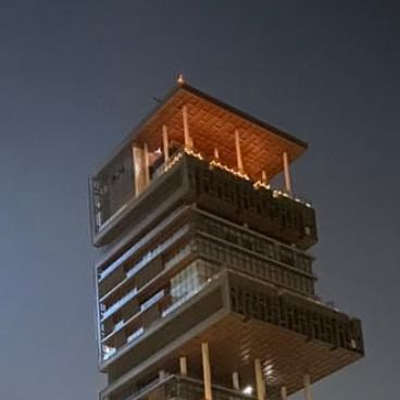 Mukesh Ambani's Antilia in Mumbai lights up for PM Modi's 9 PM 9Minutes; see pics