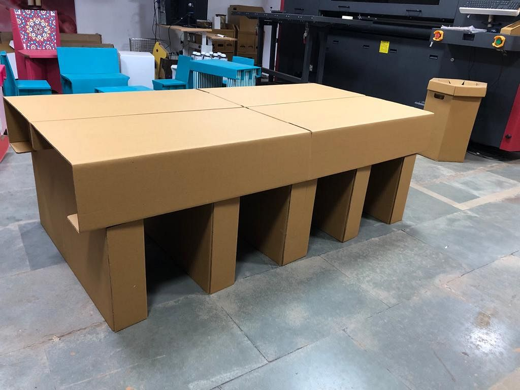 Coronavirus in Mumbai: City-based furniture maker makes disposable cardboard beds and face shields to combat CoVID-19
