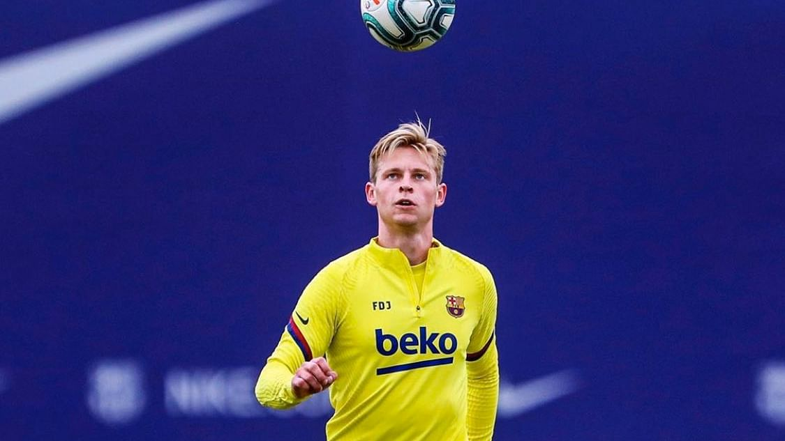 Barcelona needs 'few more weeks of training' before playing in the league, says Dutch midfielder Frenkie de Jong