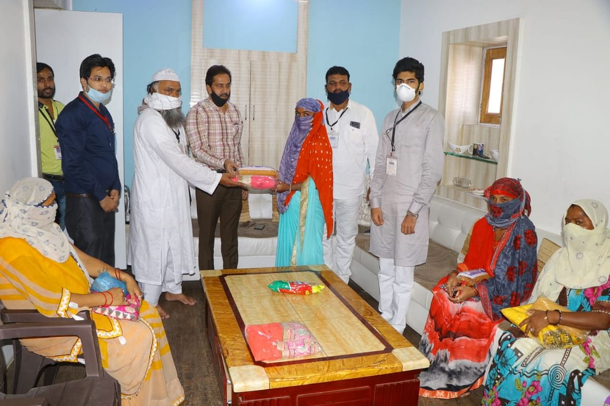 Sari distributed on Eid