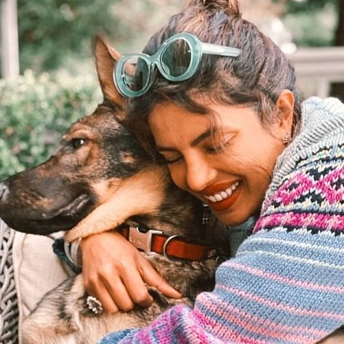 Priyanka Chopra's cuddles with her pet dog Gino in latest Instagram post
