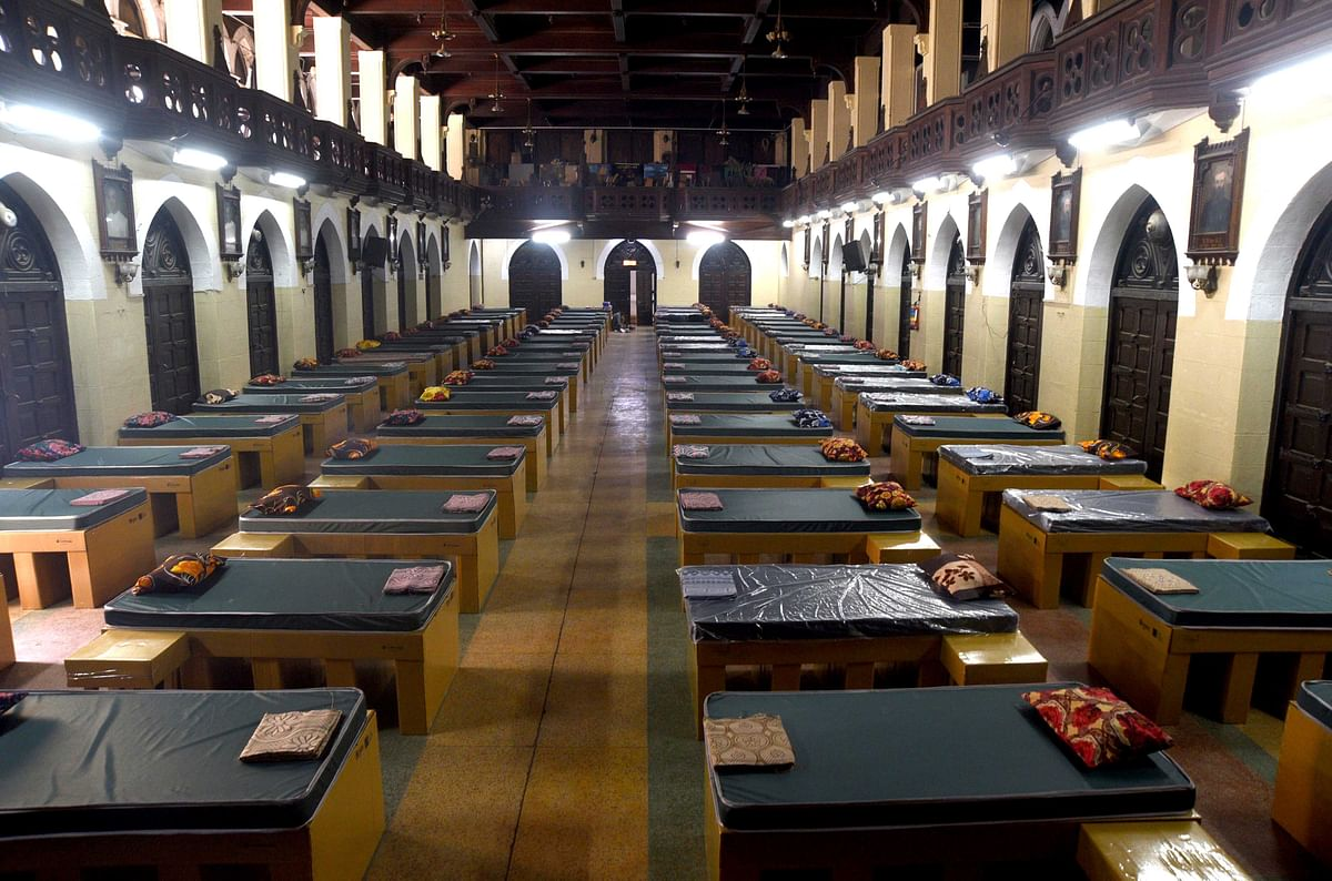 Quarantine facility set up at St Xavier's College, Mumbai.