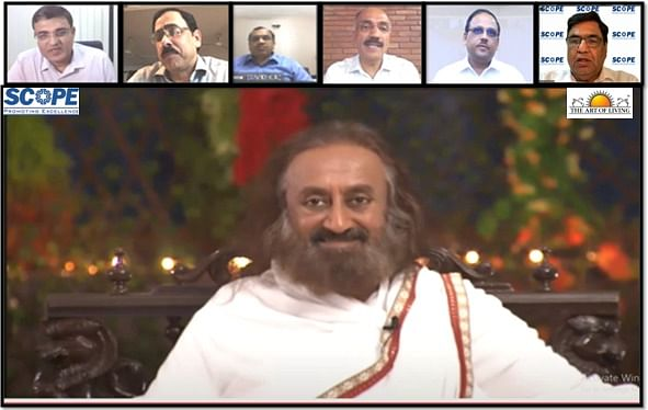 SCOPE organises webinar with Gurudev Sri Sri Ravi Shankar