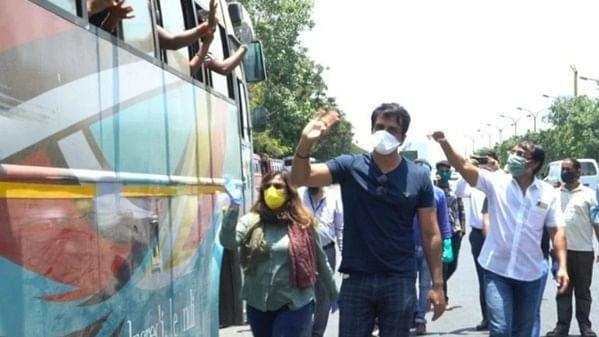 Sonu Sood arranges transport for migrants stuck in Mumbai