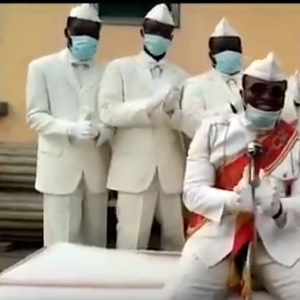 Ghana's viral dancing pallbearers share hilarious video: 'Stay home or dance with us'