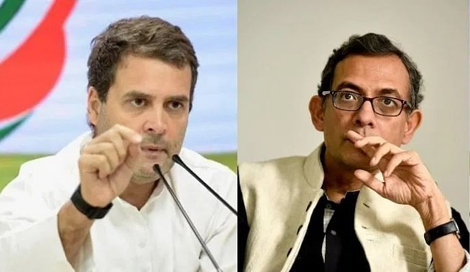 Rahul Gandhi and Abhijit Banerjee