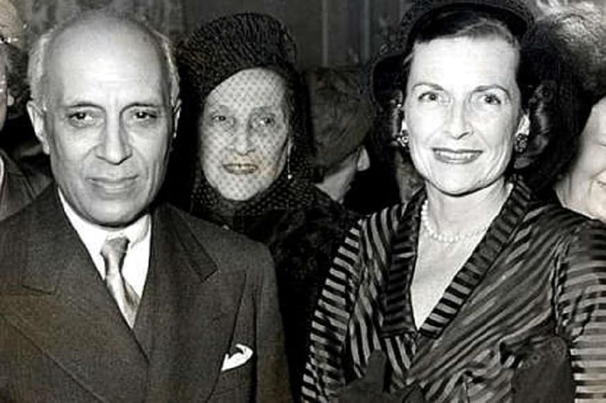 Jawaharlal Nehru with Edwina Mountbatten