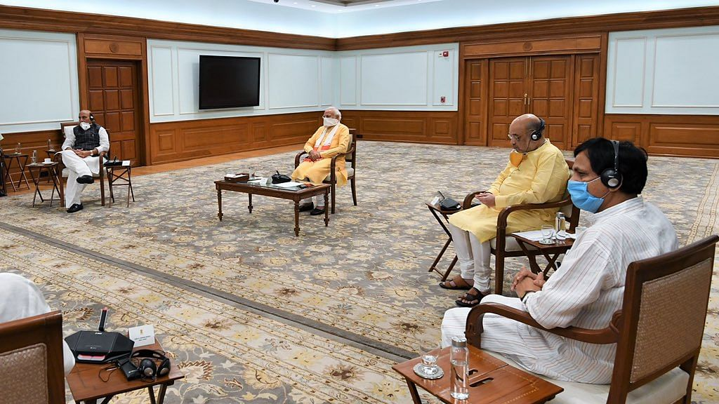 Prime Minister Narendra Modi  chaired a high-level meeting