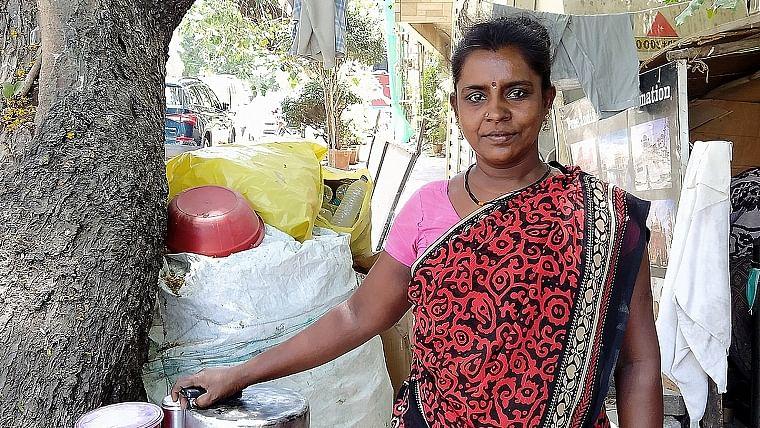 R Sundari, a Tamilian ragpicker in Mumbai