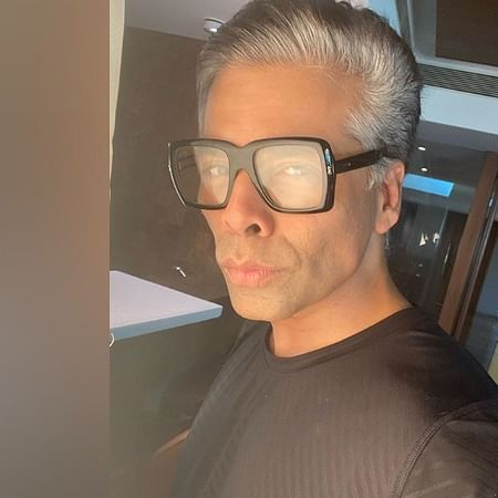 Karan Johar flaunts grey hair, says he's 'available to play father roles' in films