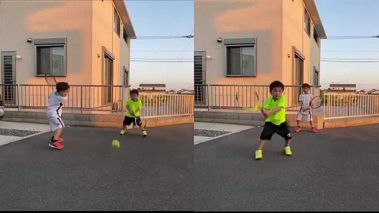 Watch: This Japanese brother's backhands will make Roger Federer, Novak Djokovic smile