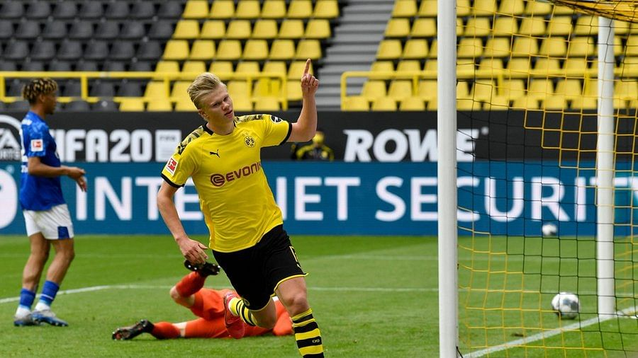 Dortmund striker Erling Haaland steals the show as Bundesliga returns after two months amid COVID-19 crisis