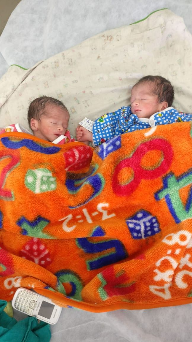 Indore: COVID-19 positive woman give birth to twin boys
