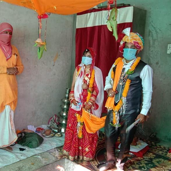 Madhya Pradesh: Veiled' swagat of barat with sanitizers, no band baja or gala pomp and glitz