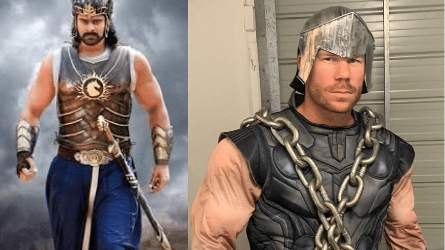 David Warner dresses up like Baahubali in social media post