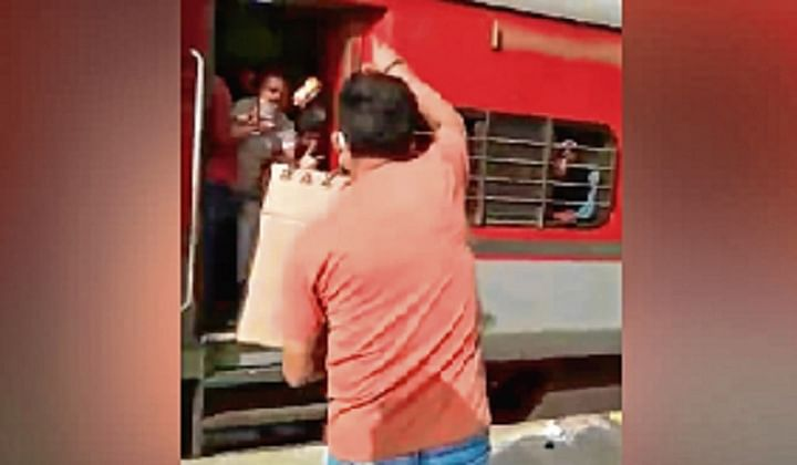 Railway Officer Throws Biscuits At Migrants, Abuses Them