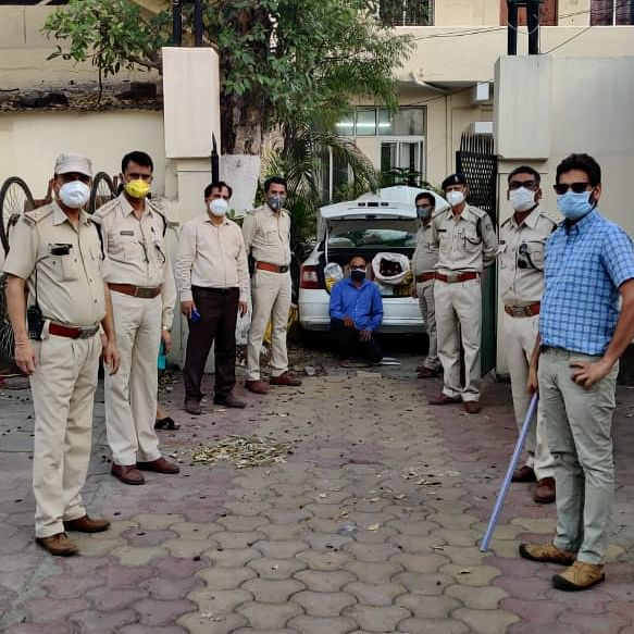 Indore: Two men arrested with liquor test Covid-19 positive