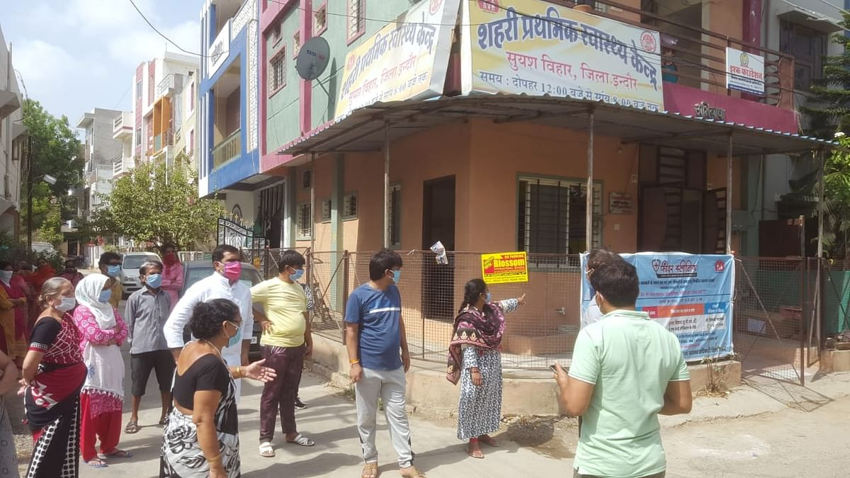 The Urban Primary Health Centre, Suyash Vihar, Indore being operated as Fever Clinic
