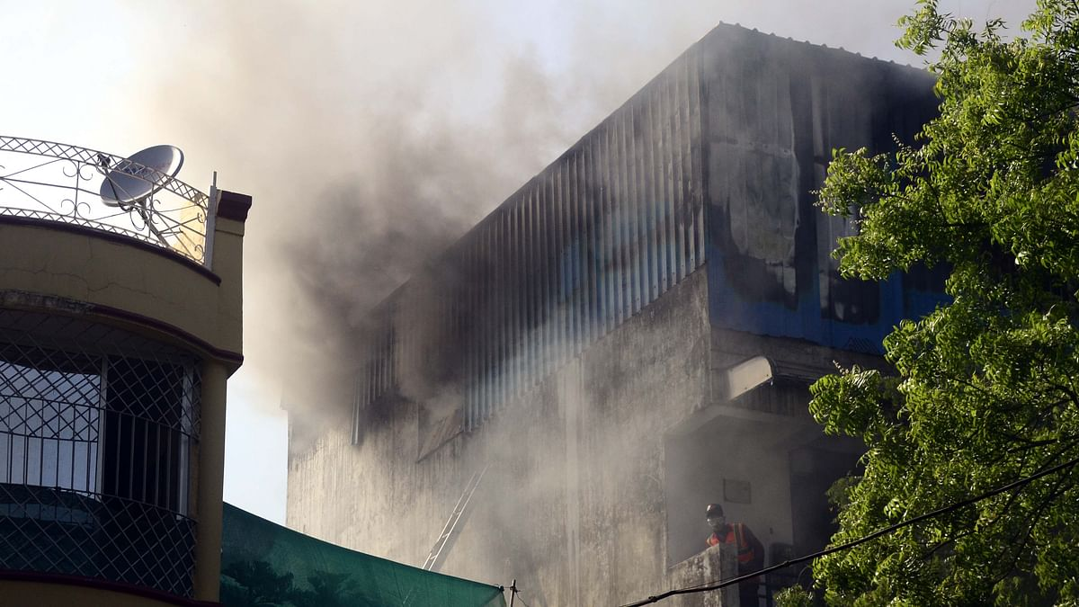 Fire in 3-storey building