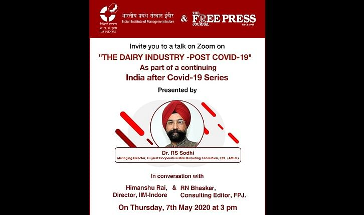 FPJ and IIM Indore to come together for a webinar with Amul's RS Sodhi on 'the dairy industry post COVID-19' – Here's how you can register
