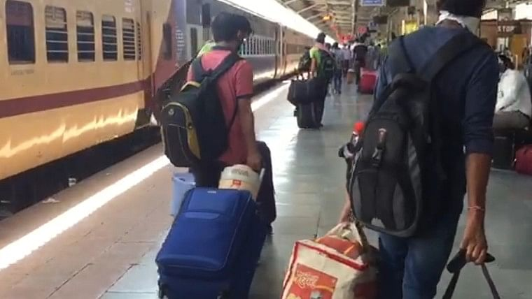 Chaos at Kota railway station as double the stranded students make beeline to board special train