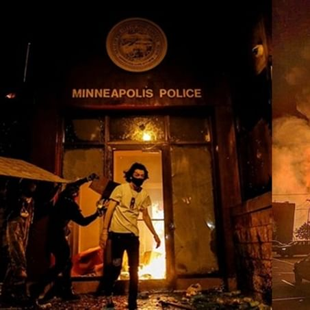 Fighting racial injustice with arson? Protesters set Minneapolis police precinct on fire where George Floyd died