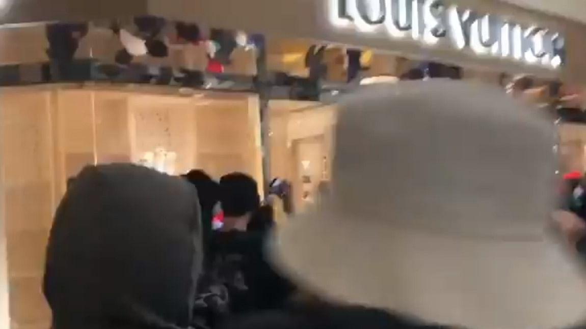 Watch: Rioters loot luxury stores in Portland, Louis Vuitton bags worth $85K stolen