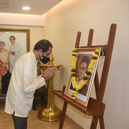 Maharashtra CM Uddhav Thackeray pays tributes to Veer Savarkar on his 137th birth anniversary