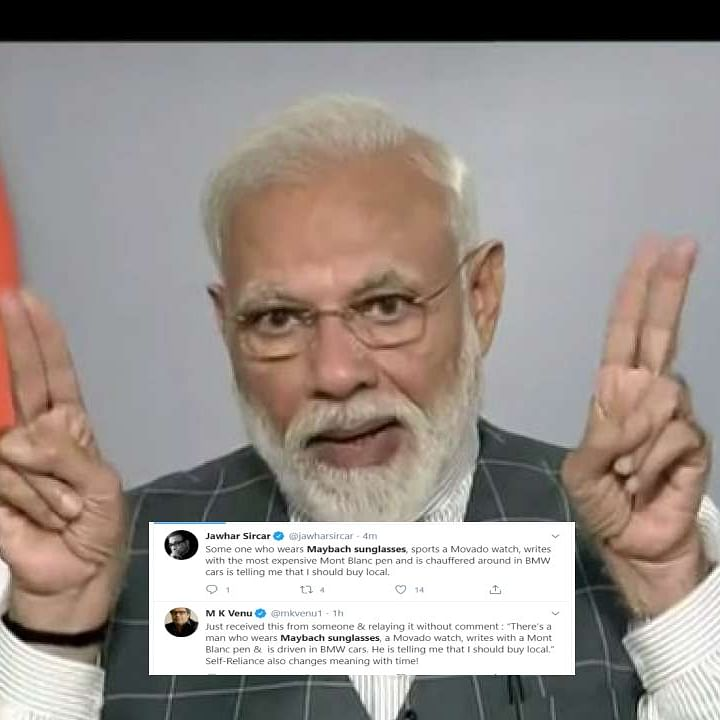 Same WhatsApp group? Twitters users have the same 'Maybach glasses' jibe after PM's 'vocal for local' comment