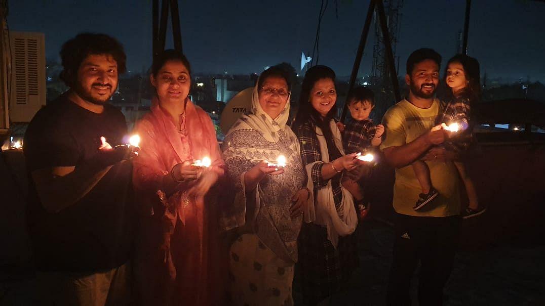 Indore Mayor Malini Gaur with Family