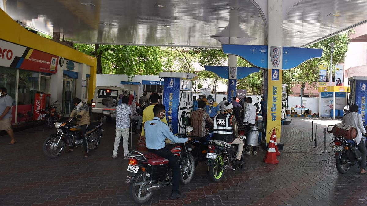 Petrol pumps across the city witnessed rush of customers across the city.