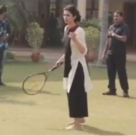 Watch: Deepika Padukone plays tennis with late Irrfan Khan in unseen video from the sets of 'Piku'