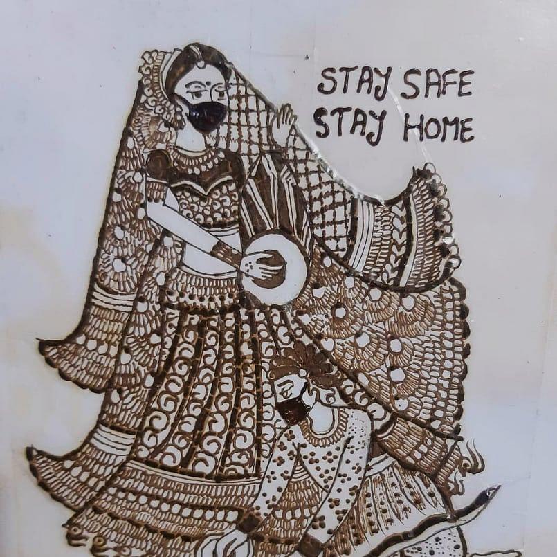 Ujjain based mehndi artist spreading social awareness on coronavirus amid lockdown