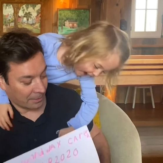 Hi Daddy! Jimmy Fallon's daughter crashes 'Tonight Show' interview with Jon Hamm