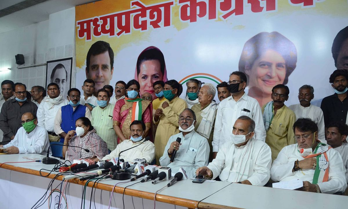 Madhya Pradesh: Nearly 500 BSP members join Congress, social distancing norms thrown in wind at induction programme