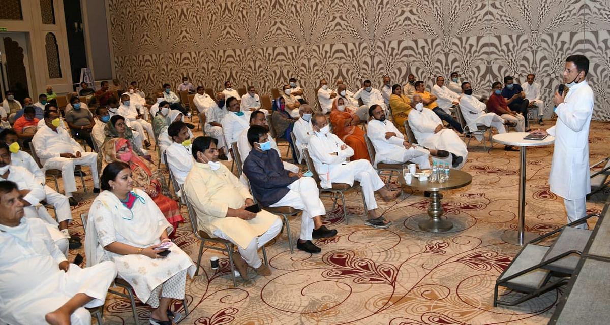 Ahead of Rajya Sabha polls in Rajasthan, workshop organised for Congress MLAs in a resort