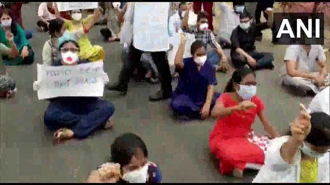 Hyderabad hospital junior doctors continue protest after 'demands not assured by Health Minister'