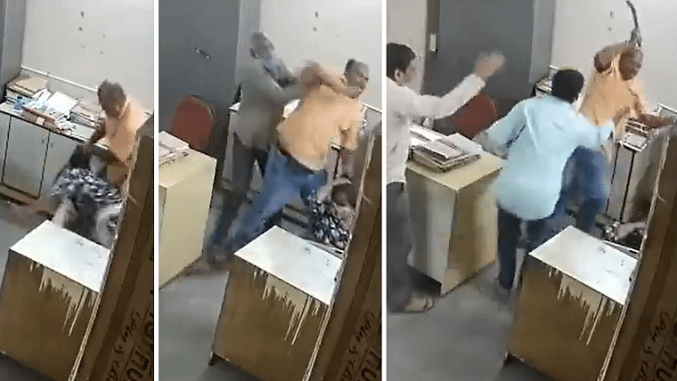 Caught on camera: Andhra govt official thrashes disabled woman