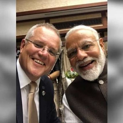 Missing the intimacy Scott Morrison gets nostalgic about the infamous 'Modi hug'